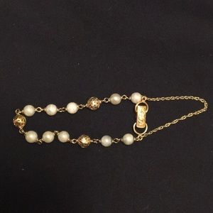 Ming's gold ball with pearl bracelet